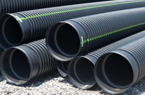 French drain pipes