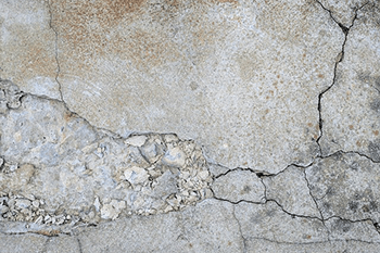 concrete crumbling