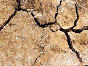 dry soil in California