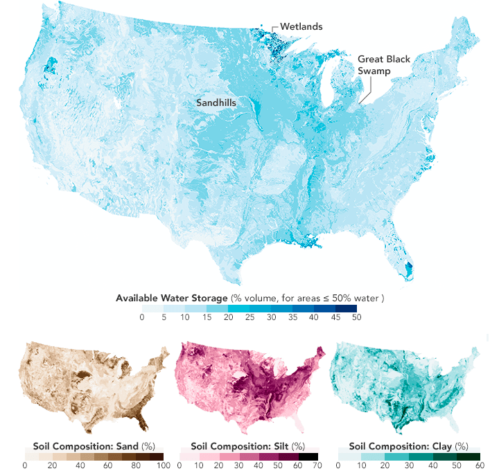 Four USA outline maps.