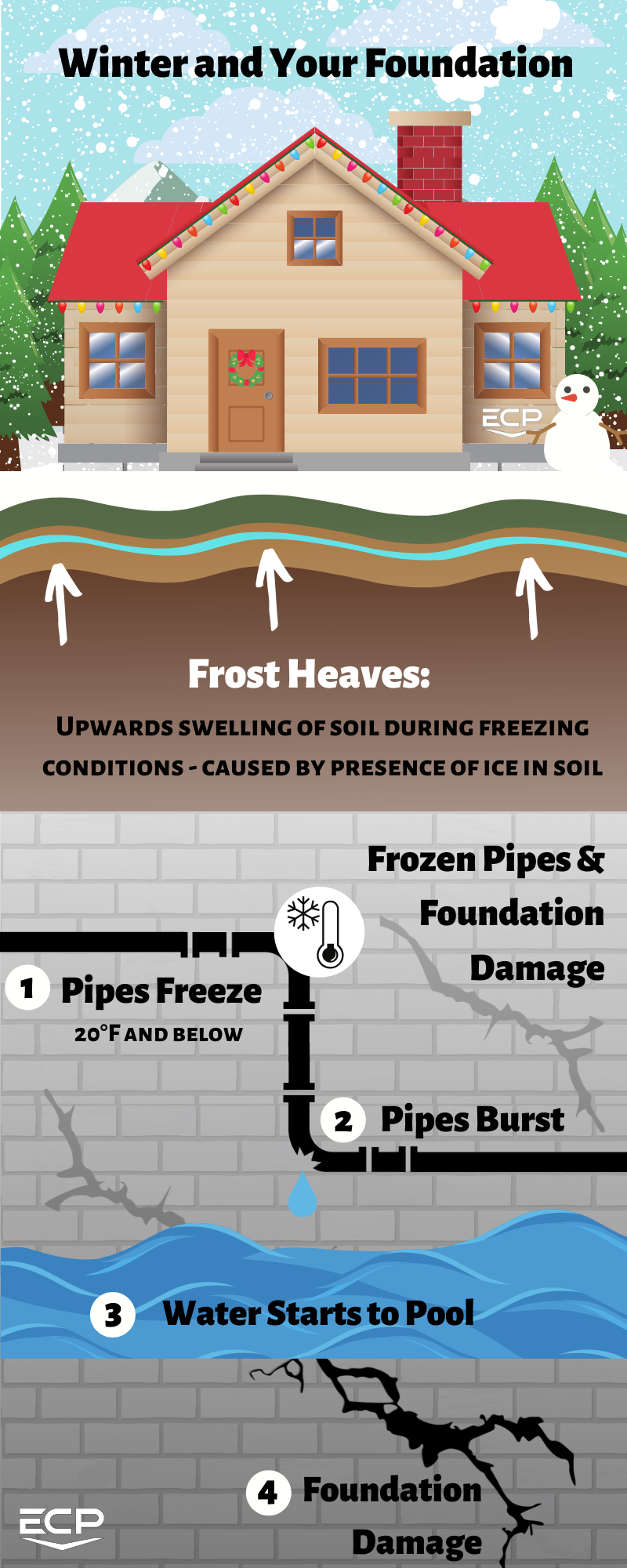 Winter foundation infographic