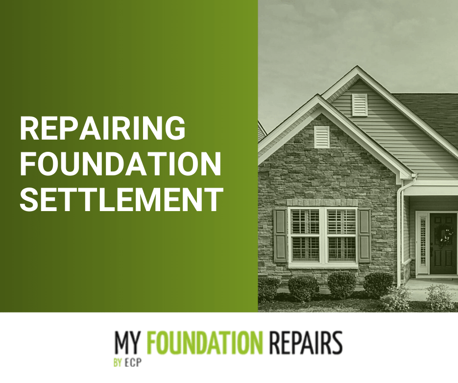 repairing foundation settlement with My Foundation Repairs