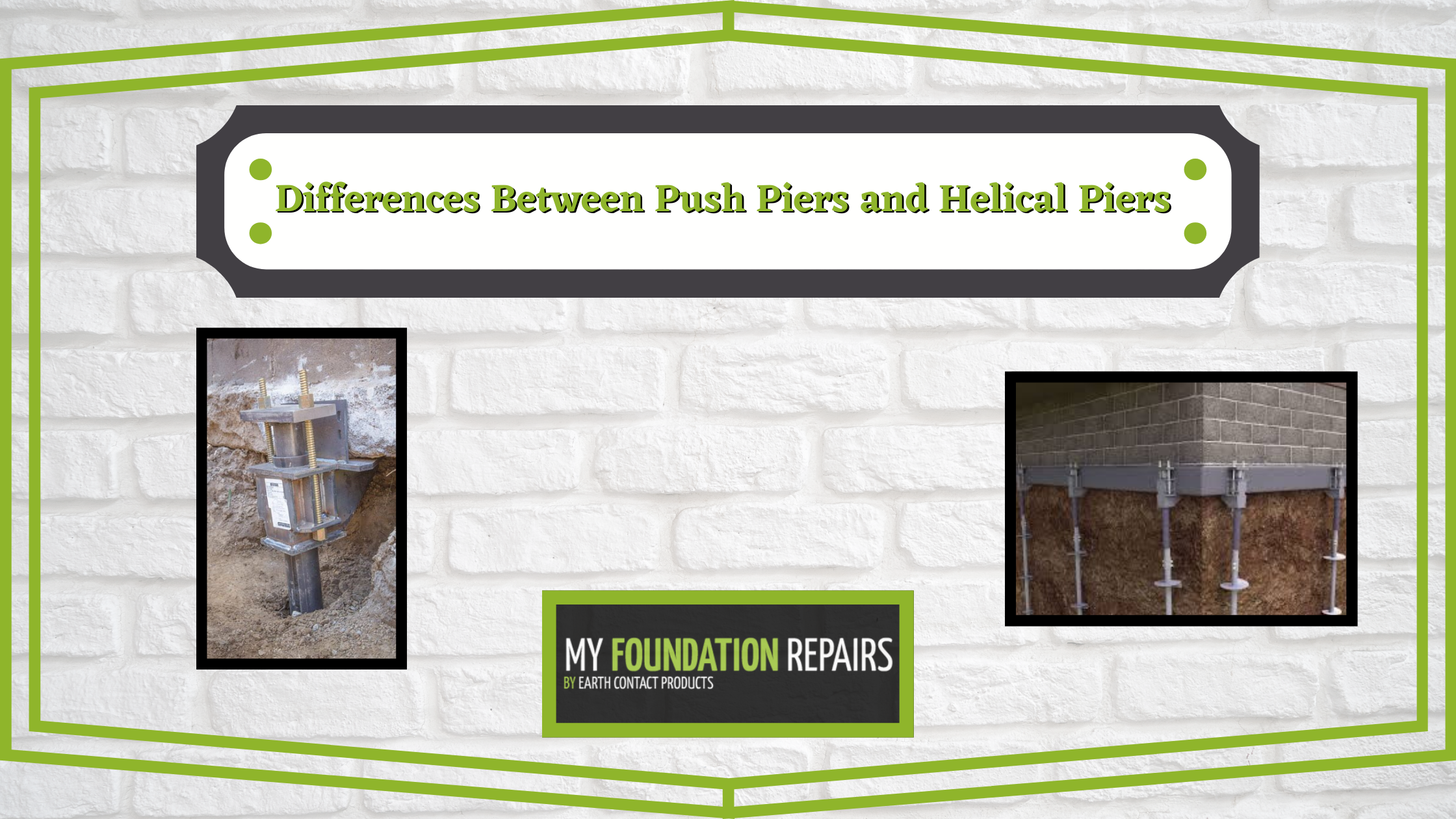 Differences Between Push Piers and Helical Piers