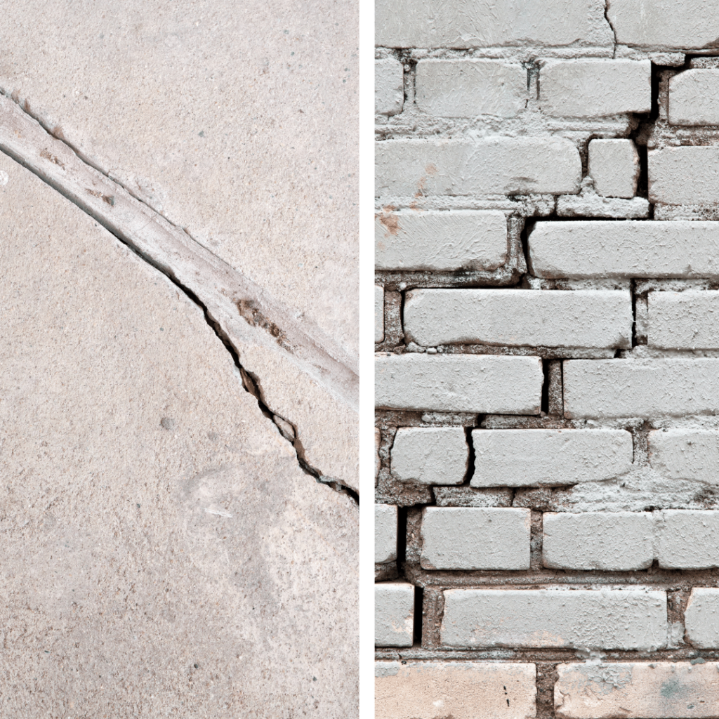 Diagonal foundation cracks can be a sign of hydrostatic pressure, and if discovered, should be inspected by a professional.