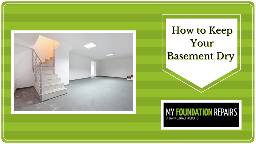 How to Keep your basement dry blog banner
